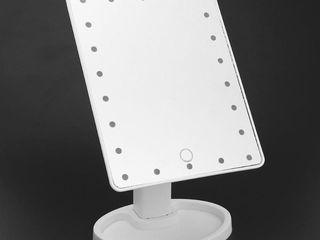 Oglinda cosmetica cu 22 leduri, touch screen si rotire 180 grade!