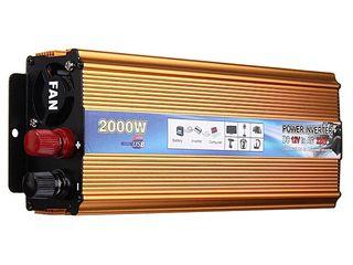 Инвертор Doxin 2000W из DC 12V в AC 220V - 1100 lei новыи в упаковке