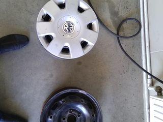 4 диска штамповки 5Jx14 5/100mm ET35 + 4 оригинальных колпака VW-550lei