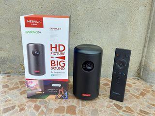 Proiector video portabil Anker Nebula Capsule II(2), WIFI, DLP, Audio 360, Android TV 9.0