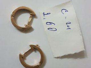 Золотые серьги 2,60 грамм!