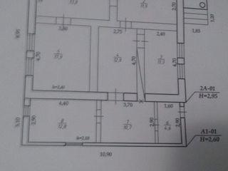 Casa Cimiseni Criuleni. Casa dispute de 5 camere debara bucatarie. Gaz lumina telefon.