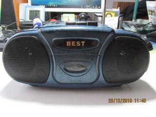 Vând radio portativ cu casetă. AM-FM.Best Model RZ9710. La preț de 150 lei.