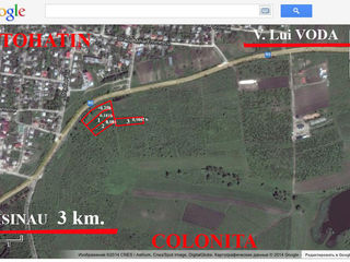 Инвестиционный участок Примыкающий к трасе R5, Кишинев-В.Луй Водэ.