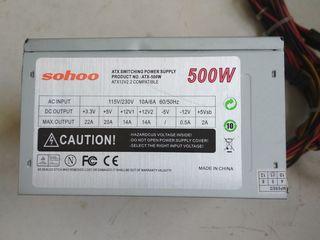 Surse PC 400-500W fan 80 și 120 mm
