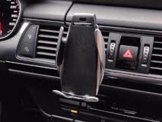 Автомобильная беспроводная зарядка-держатель Penguin Smart Sensor S5 black