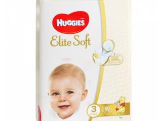 Huggies подгузники Elite Soft 3, 5-9кг. 80шт