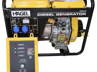 Generator Hagel 7500CLE -ATS дизельный генератор мощностью 5.5 квт/гарнтия/ доставка/21800 lei