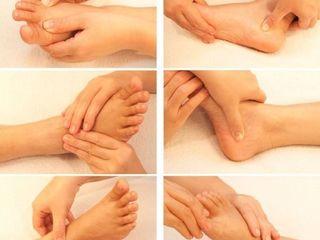Массаж ног , masaj la picioare.