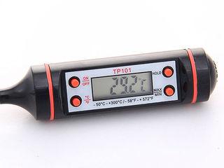 Termometru pentru bucatarie, cuptor - pt. lichide si solide -50grade 300grade!