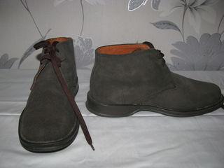 Ботинки, Италия, натуральная замша, размер 39/40, 780 лей