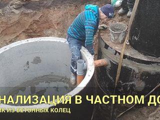 Услуги по устройство канализации водопровод под ключ