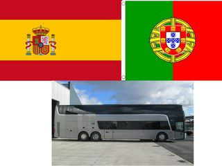 Transport pasageri Moldova Spania, Portugalia
