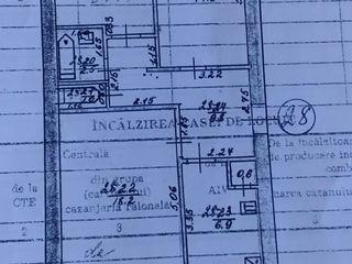 Se vinde apartament cu 3 odăi în centrul orașului Ungheni