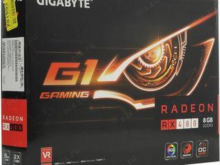 Gigabyte amd radeon rx 480 , gv-rx480g1 gaming-8gd, 8гб, gddr5, ret