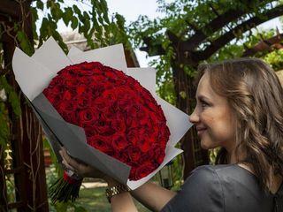 101 красная Роза  35 см за 550 лей