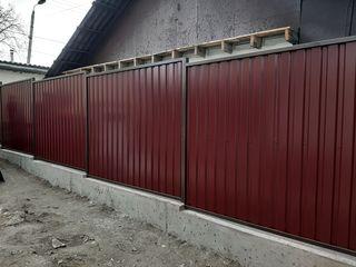 Garduri din beton, garduri la comanda, заборы на заказ, фундамент, монтаж забора, чистая кладка,