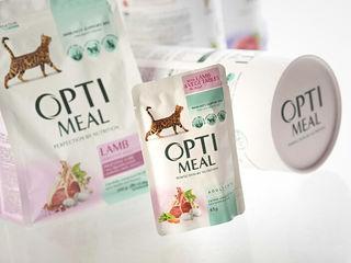 Optimeal , корм для кошек c доставкой по Кишиневу и Молдове.