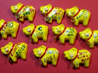 Новогодние магнитики. Денежные свинки!