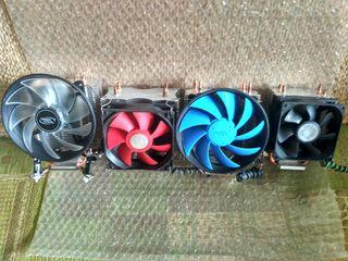 Кулеры любых сокетов AMD-Intel новые от 150 лей, б/у от 50 лей