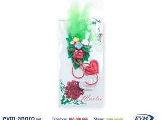 Martisor Мэрцишор артикул z17c handmade открытка ваза с цветами и два сердца