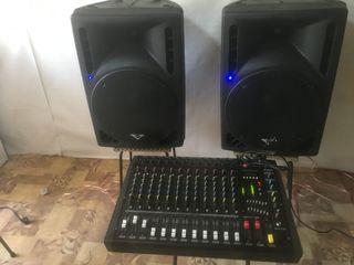 """Aparat ,Amplificator-Mixer activ ,,Yamaha -1208D"""", Boxe - 2000 W ,tot la pret de 450 Euro!!!"""