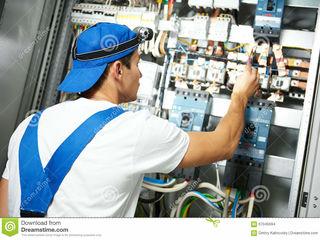 Electrician Chisinau 24/24. Vin timp de 1 ora.  Preturi mici. Lustre. Prize. Lumina