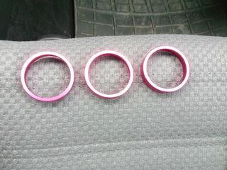 Декор кольца новые алюминевые для vw pasat b6 golf 5.6turan.для крутилок клима контроля.