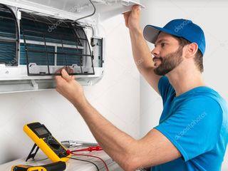 Revizia aparatului de aer conditionat, servicii de montare, intretinere si reparare