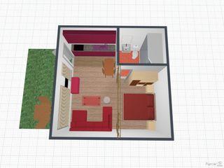 Новострой, 1- комнатная  32м2. Буюканы!!!  Отдельный вход в квартиру!!! Автономное отопление. 20500€