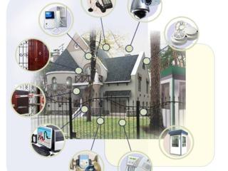 Охрано-пожарная сигнализация, sistema alarmei de foc si securitatea.