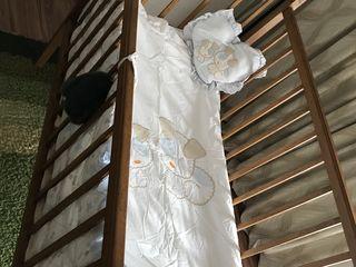 Кроватка, натуральное дерево ДУБ