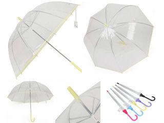 Прозрачный зонт с окантовкой. Доставка по Кишиневу