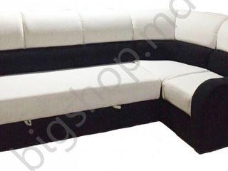Canapea de colt V-Toms V-Toms V1 (1.7x2.6 m) Black/Beige. Livrare Strășani!!