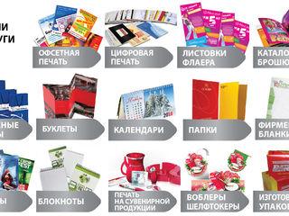 Листовки, буклеты, визитки, календари, открытки, бланки, пакеты, плакаты, блокноты, фотокниги...