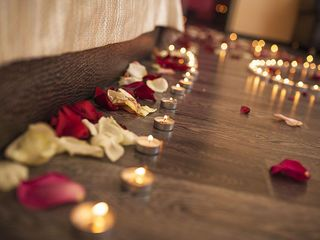 Marriage proposal in a romantic atmosphere