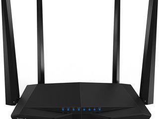 Router Wireless TENDA AC6, Dual-Band 300 + 867 Mbps, negru