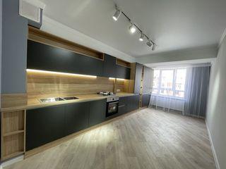 Vânzare apartament cu 3 camere separate + living, bloc nou, euroreparație, Buiucani,str. L. Deleanu!