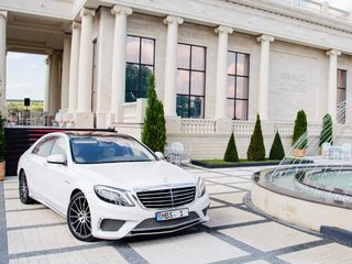Reducere! 23-26 septembrie: Mercedes S Class W222 AMG Long S65 alb (nr. MBS 1) - 25 €/oră, 149 €/zi