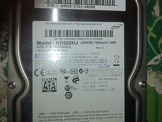 HDD Samsung 500 gb в идеальном состоянии мало проработал - 399 лей