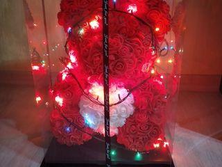 Super-cadou Ursuleț din trandafiri