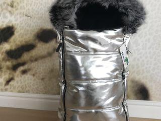 Тёплые конверты для малышей до года -экокожа,натуральная опушка