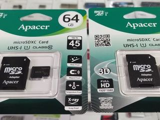 Карта памяти Apacer 64GB microSDHC