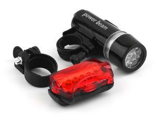 Фонари велосипедные, комплект светодиод передний и задний фонарик вело-фонарик.