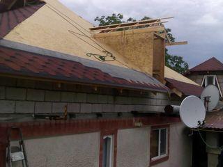 Крыши из мягкой кровли, профнастила, металлочерепицы.