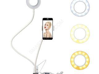 Suport flexibil pentru telefon cu inel LED / Гибкий держатель для телефона со световым кольцом