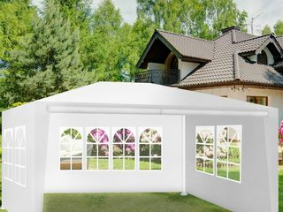 Палатка-павилион 3х4м, белая, со стенками (типа торгово-садовая)! абсолютно новая, в упаковке!