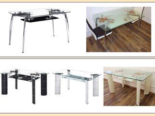 Распродажа! Столы обеденные из стекла и металла - от 1000 лей! Продажа в кредит!