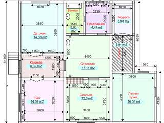 Дом котельцовый одноэтажный трехкомнатный в Чимишлии ул. Н. Иорга,38, район Речя.