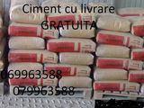 Ciment cu livrare gratuită. Nisip,petriș,Fortan, e.t.c.